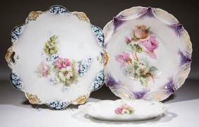 R. S. PRUSSIA PORCELAIN ARTICLES, LOT OF THREE