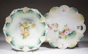 R. S. PRUSSIA PORCELAIN ARTICLES, LOT OF TWO