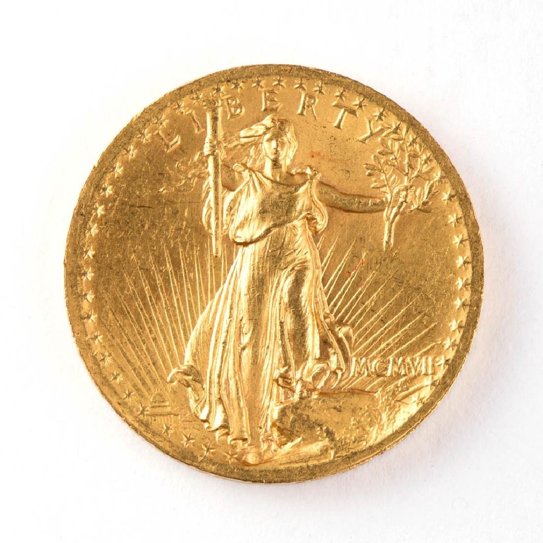 UNITED STATES 1907 $20 SAINT GAUDENS HIGH-RELIEF