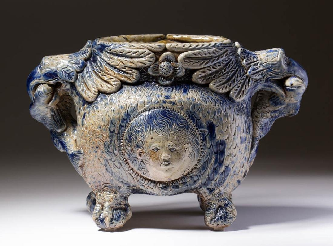 IMPORTANT ANNA POTTERY, ANNA, ILLINOIS CARVED AND
