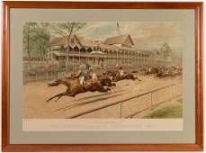 CURRIER  IVES LARGE FOLIO RACING PRINT