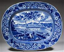 STAFFORDSHIRE TRANSFER-PRINTED AMERICAN VIEW CERAMIC
