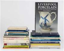ENGLISH PORCELAIN CERAMIC REFERENCE VOLUMES, LOT OF 33