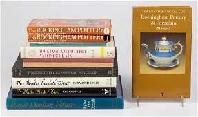 ENGLISH DOULTON / ROCKINGHAM CERAMIC REFERENCE VOLUMES,