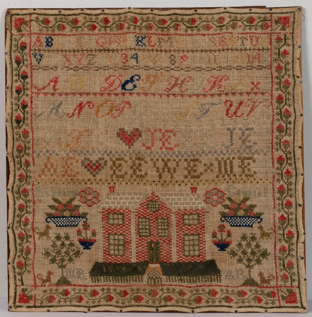AMERICAN, PROBABLY PENNSYLVANIA, PICTORIAL NEEDLEWORK