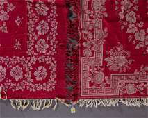 AMERICAN TURKEY RED COTTON TABLE CLOTHS LOT OF TWO