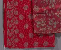 AMERICAN TURKEY RED COTTON TABLE CLOTHS, LOT OF TWO