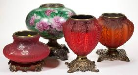 Assorted Gone With The Wind Kerosene Parlor Lamp Bases,