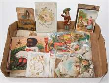 ASSORTED ADVERTISING TRADE CARDS AND RELATED EPHEMERA