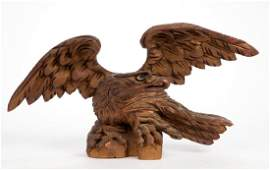 AMERICAN FOLK ART CARVED AND PAINTED EAGLE