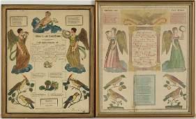 PENNSYLVANIA GERMAN PRINTED AND HAND-COLORED FRAKTUR,