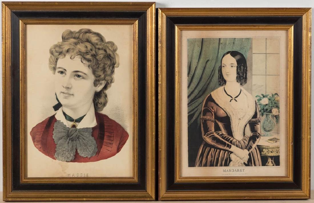 CURRIER & IVES PORTRAIT PRINTS, LOT OF TWO