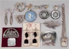 VINTAGE STERLING SILVER DESIGNER AND COSTUME JEWELRY,
