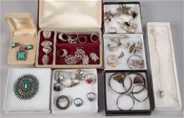 ASSORTED STERLING SILVER COSTUME JEWELRY