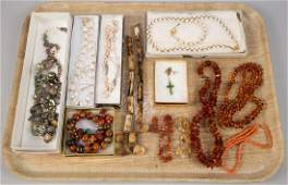 VINTAGE AND OTHER COSTUME JEWELRY LOT OF 21 PIECES