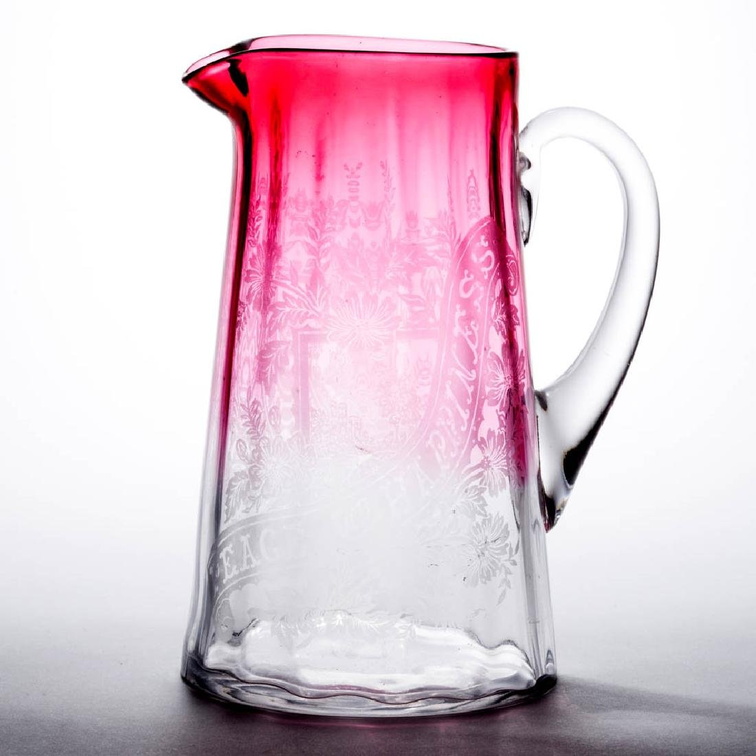 VICTORIAN PANEL-OPTIC WATER PITCHER