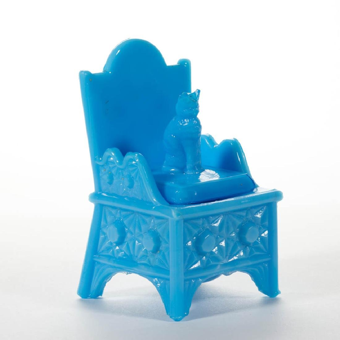 CAT ON CHAIR NOVELTY INKWELL