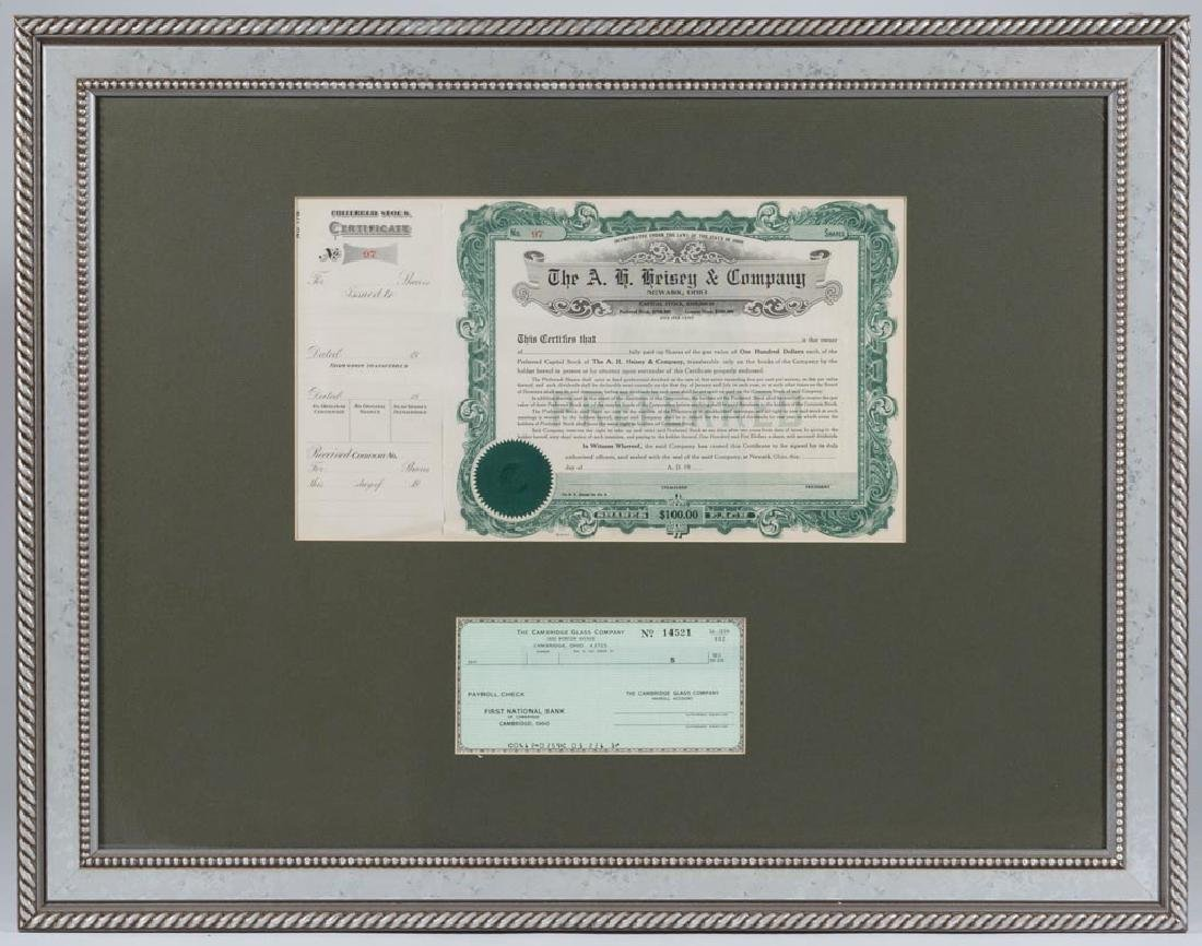 A. H. HEISEY & COMPANY STOCK CERTIFICATE