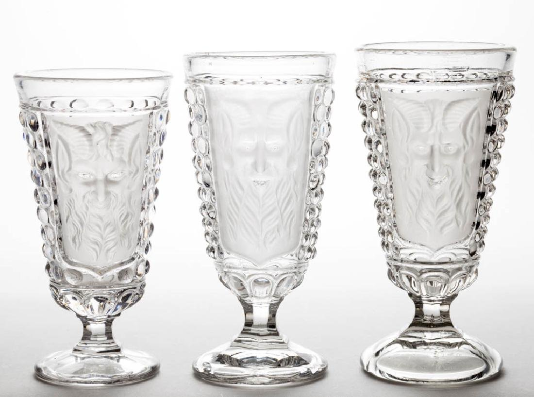 MEPHISTOPHELES ALE GLASSES, LOT OF THREE