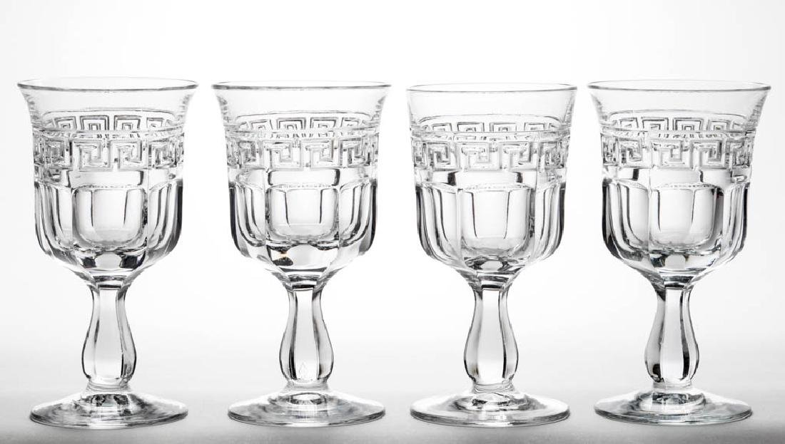 HEISEY NO. 433 / GRECIAN BORDER GOBLETS, LOT OF FOUR