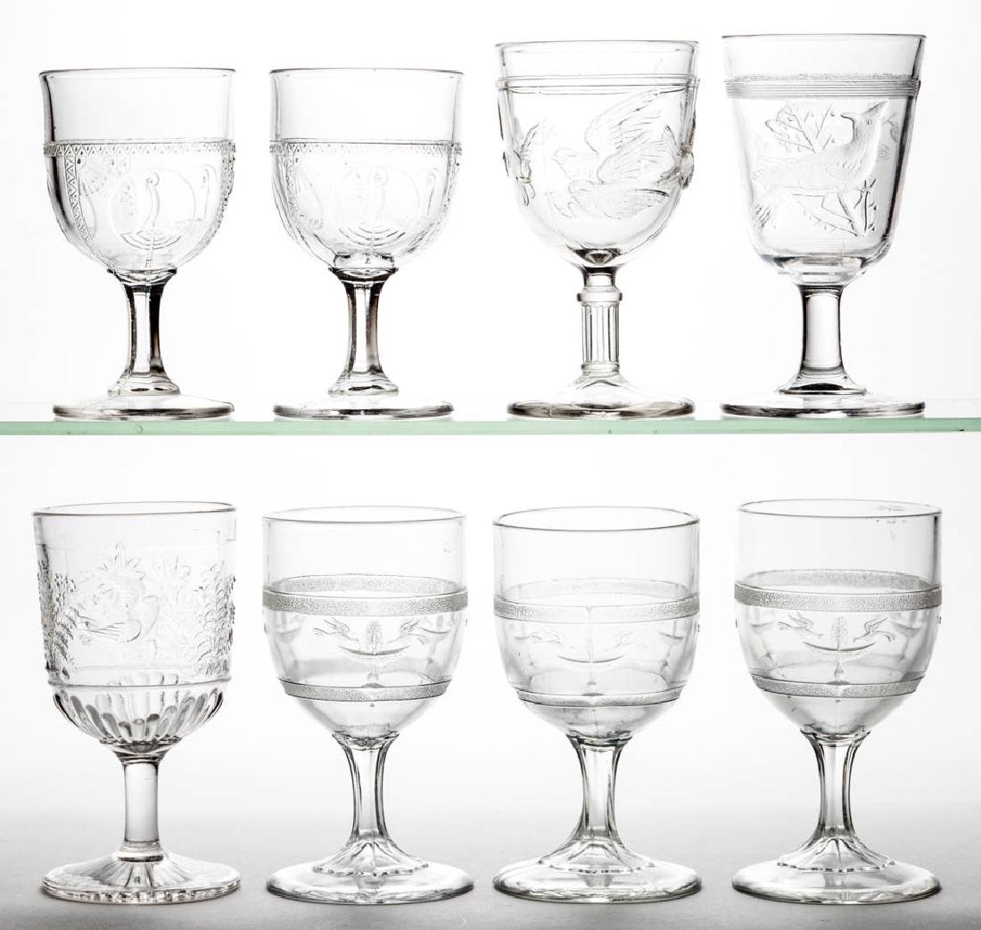 ASSORTED EAPG GOBLETS, LOT OF EIGHT
