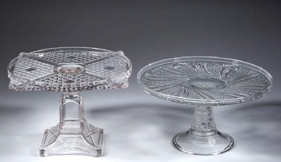 ASSORTED EAPG CAKE STANDS / SALVERS, LOT OF TWO