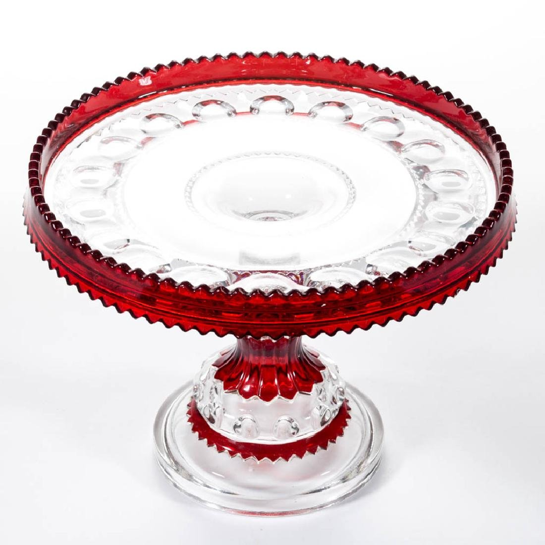 KING'S CROWN / EXCELSIOR (OMN) - RUBY-STAINED SALVER /