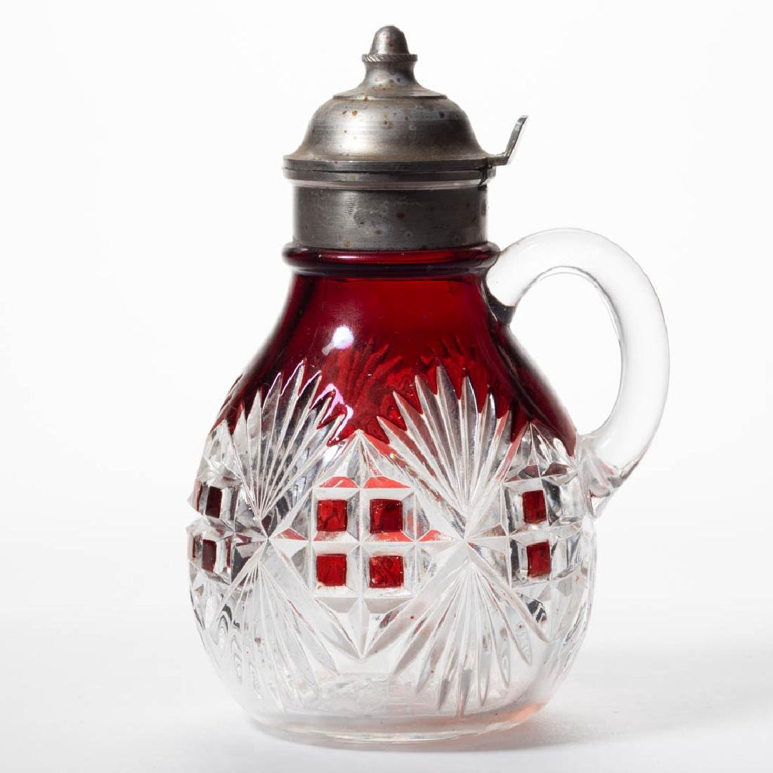 MAJESTIC (OMN) - RUBY-STAINED SYRUP PITCHER