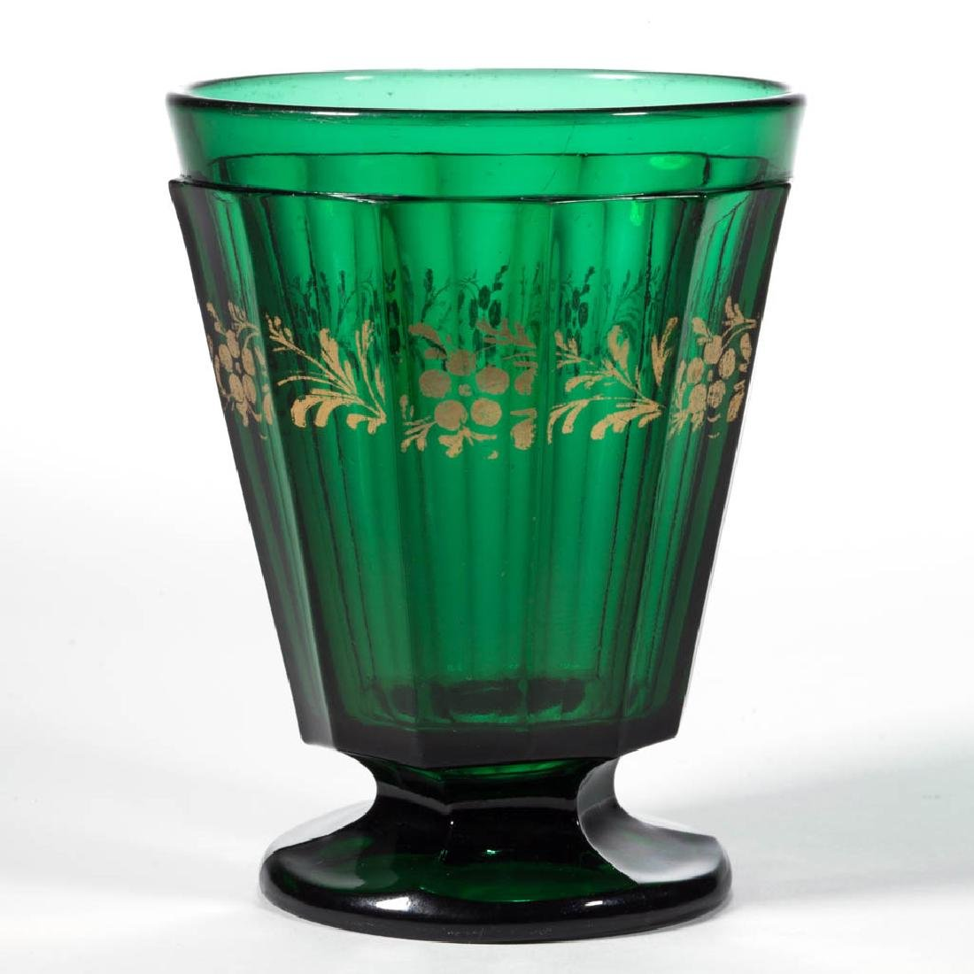 PRESSED 12-PANEL FOOTED TUMBLER