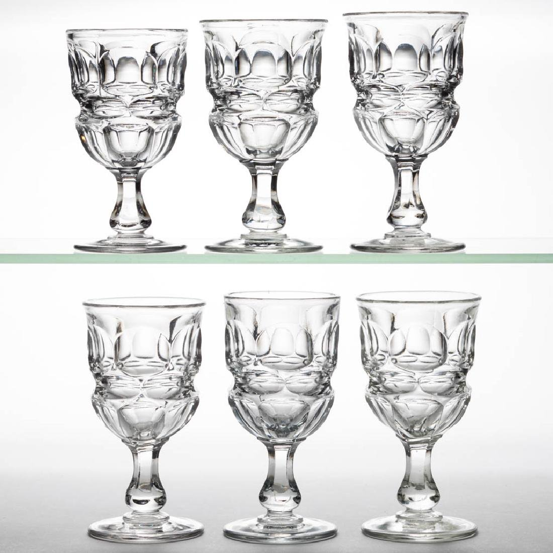 ARGUS CHAMPAGNE GLASSES, SET OF SIX