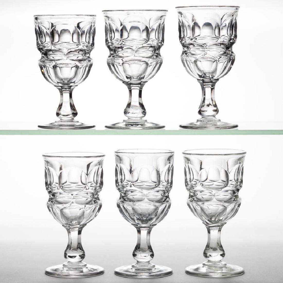 ARGUS CHAMPAGNE GLASSES, SET OF SIX