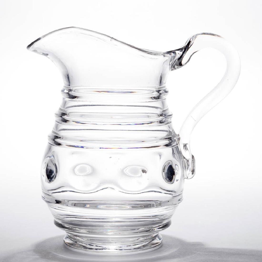 BLOWN-MOLDED RING AND LENS WATER PITCHER