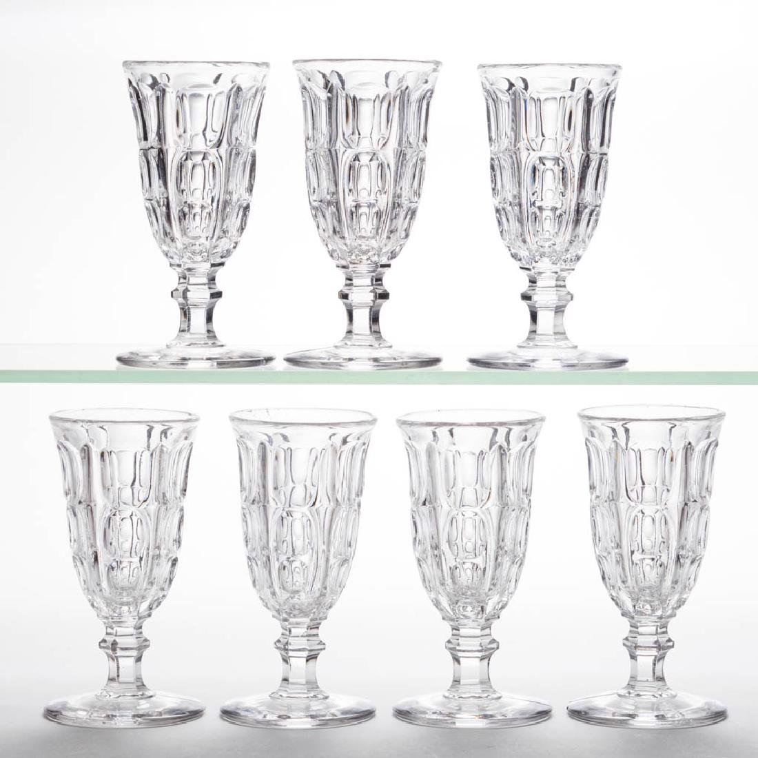 HERCULES PILLAR JELLY GLASSES, LOT OF SEVEN