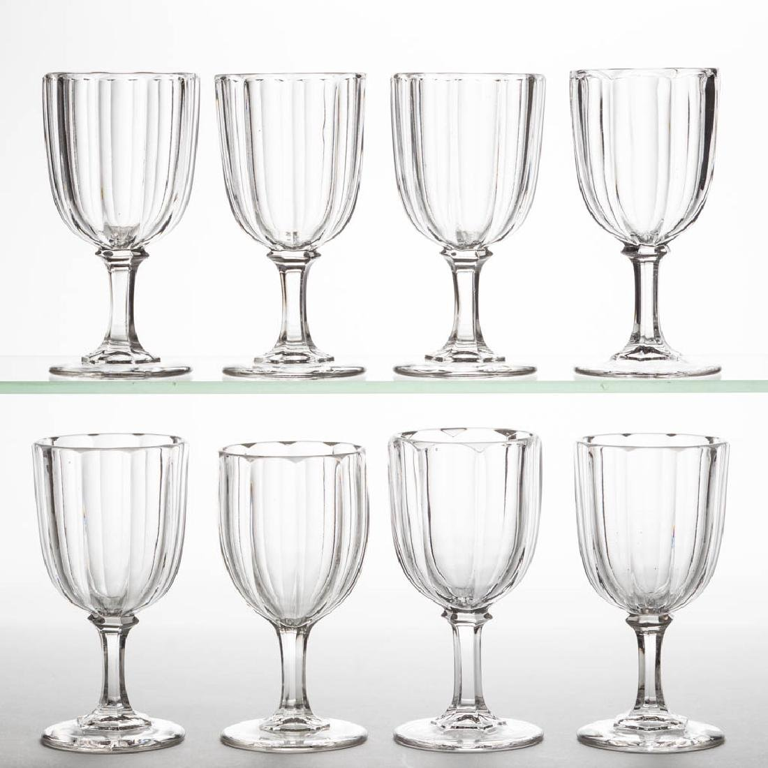 HUBER / CRYSTAL CHAMPAGNES, LOT OF EIGHT