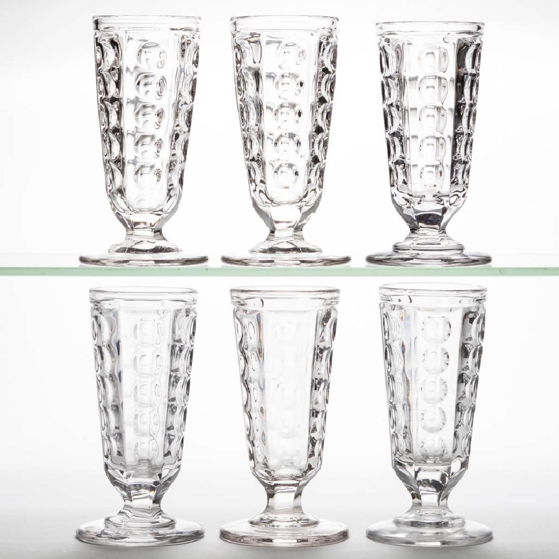 PILLAR ALE GLASSES, LOT OF SIX