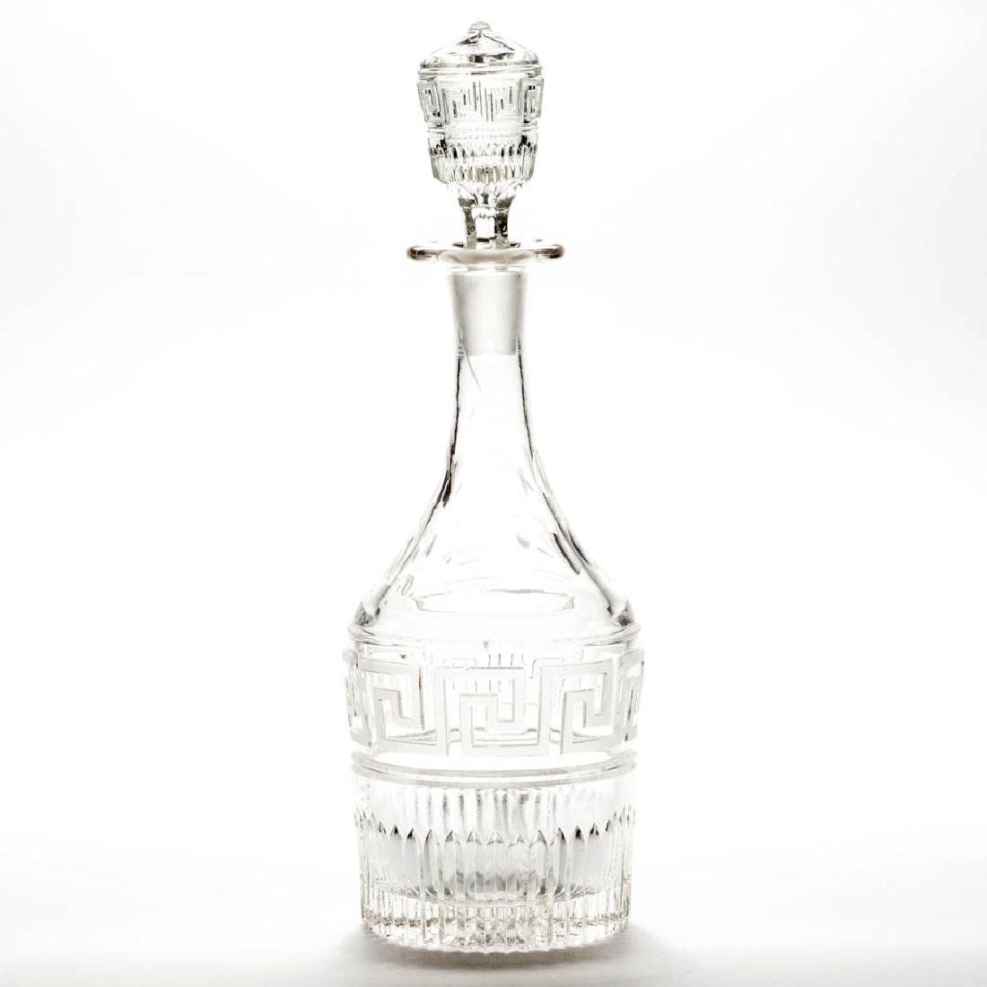 ROMAN KEY - FROSTED PINT-AND-A-HALF DECANTER