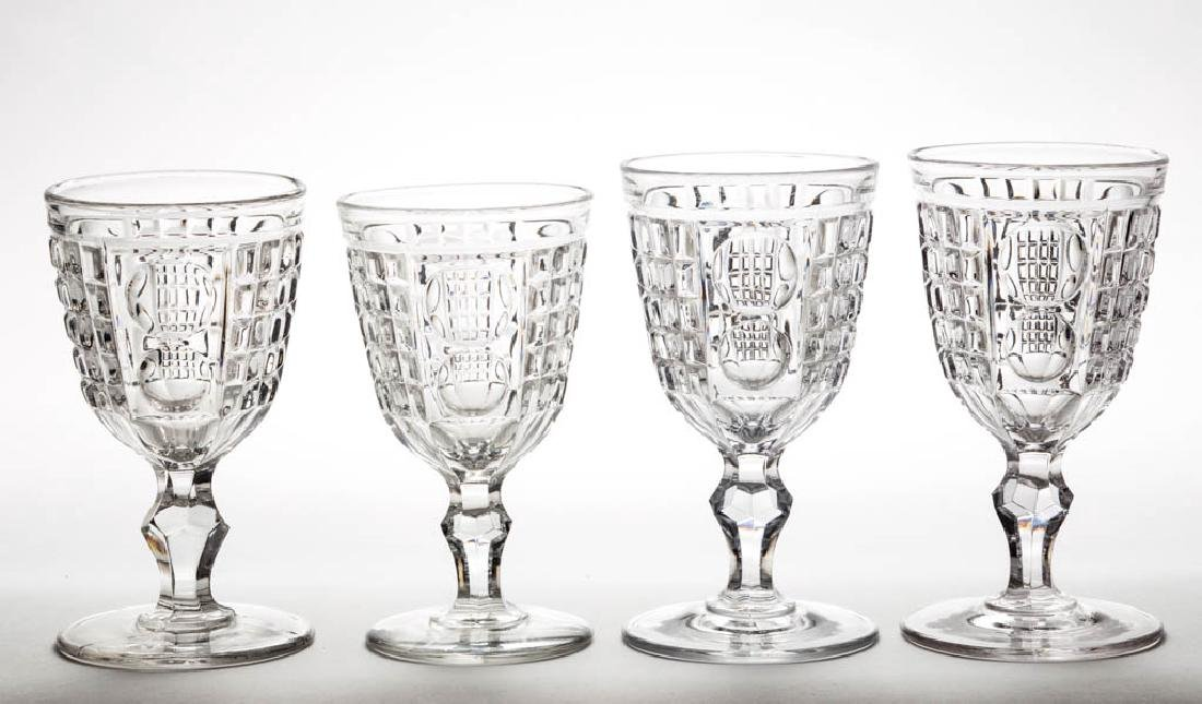 WAFFLE AND THUMBPRINT / PALACE (OMN) LARGE GOBLETS, LOT