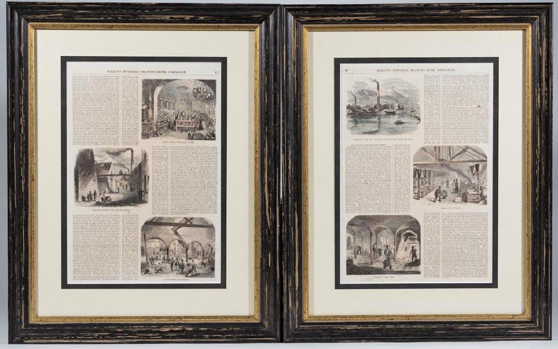 NEW ENGLAND GLASS CO. PERIOD PRINTED ARTICLE, TWO PAGES
