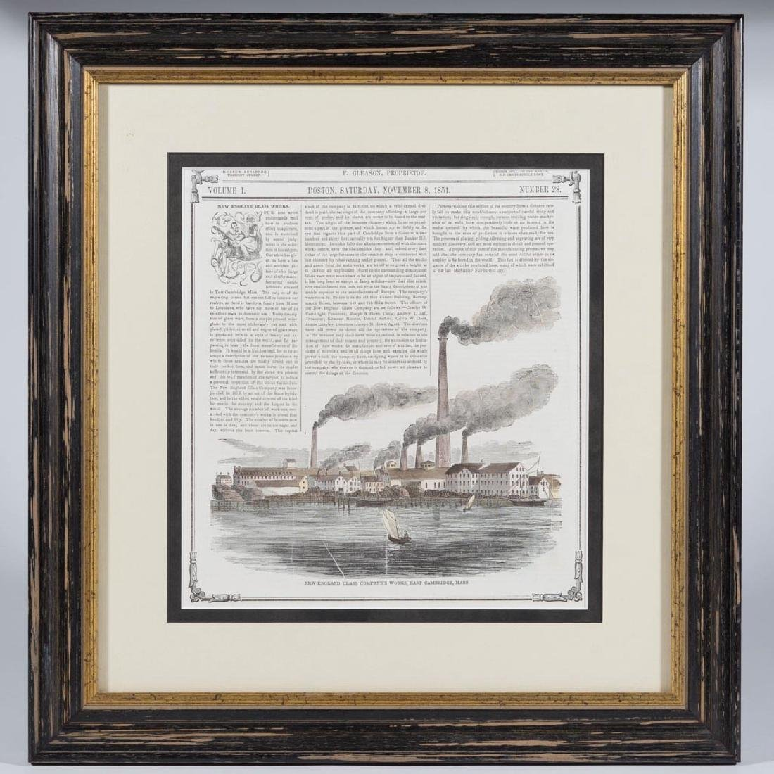 NEW ENGLAND GLASS CO. PERIOD PRINTED ARTICLE
