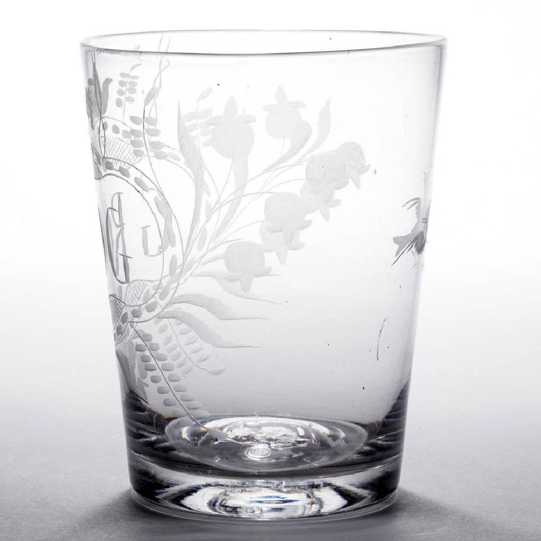 FREE-BLOWN AND ENGRAVED FLIP GLASS - 2