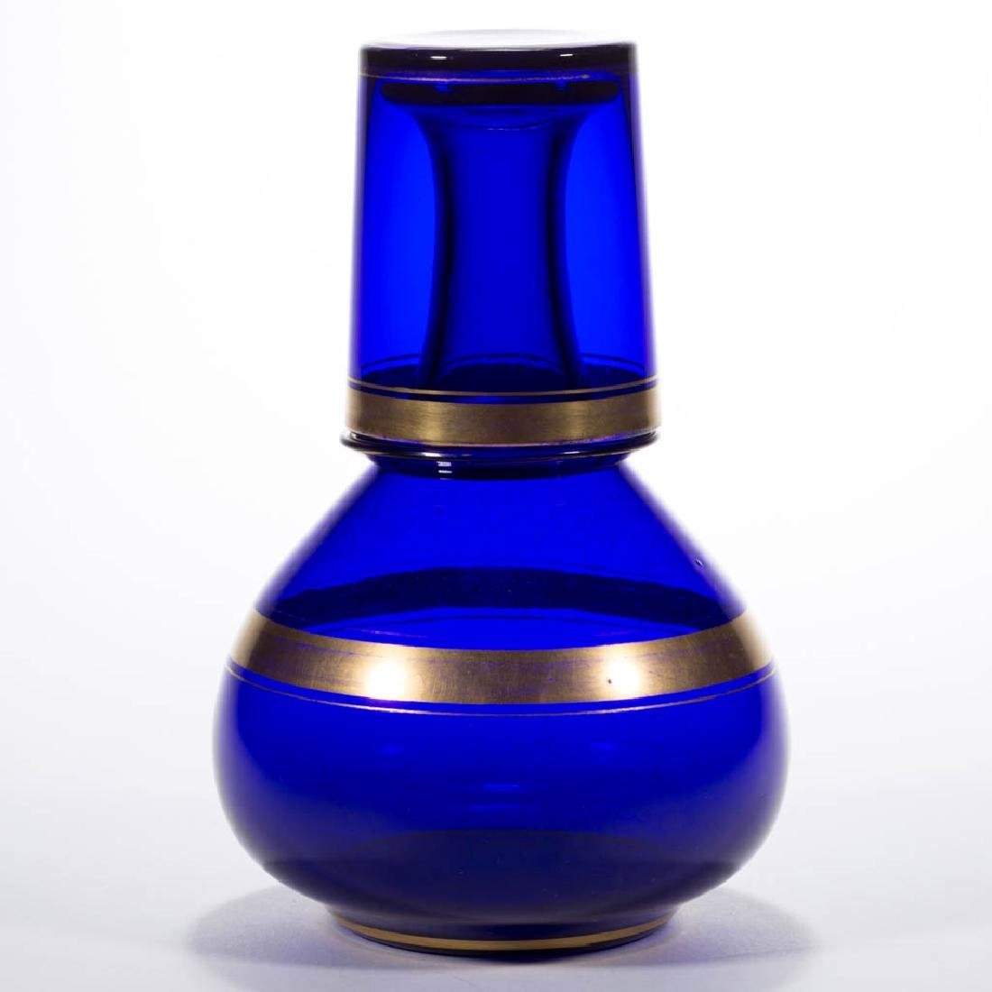 EUROPEAN FREE-BLOWN GLASS WATER BOTTLE AND TUMBLE UP