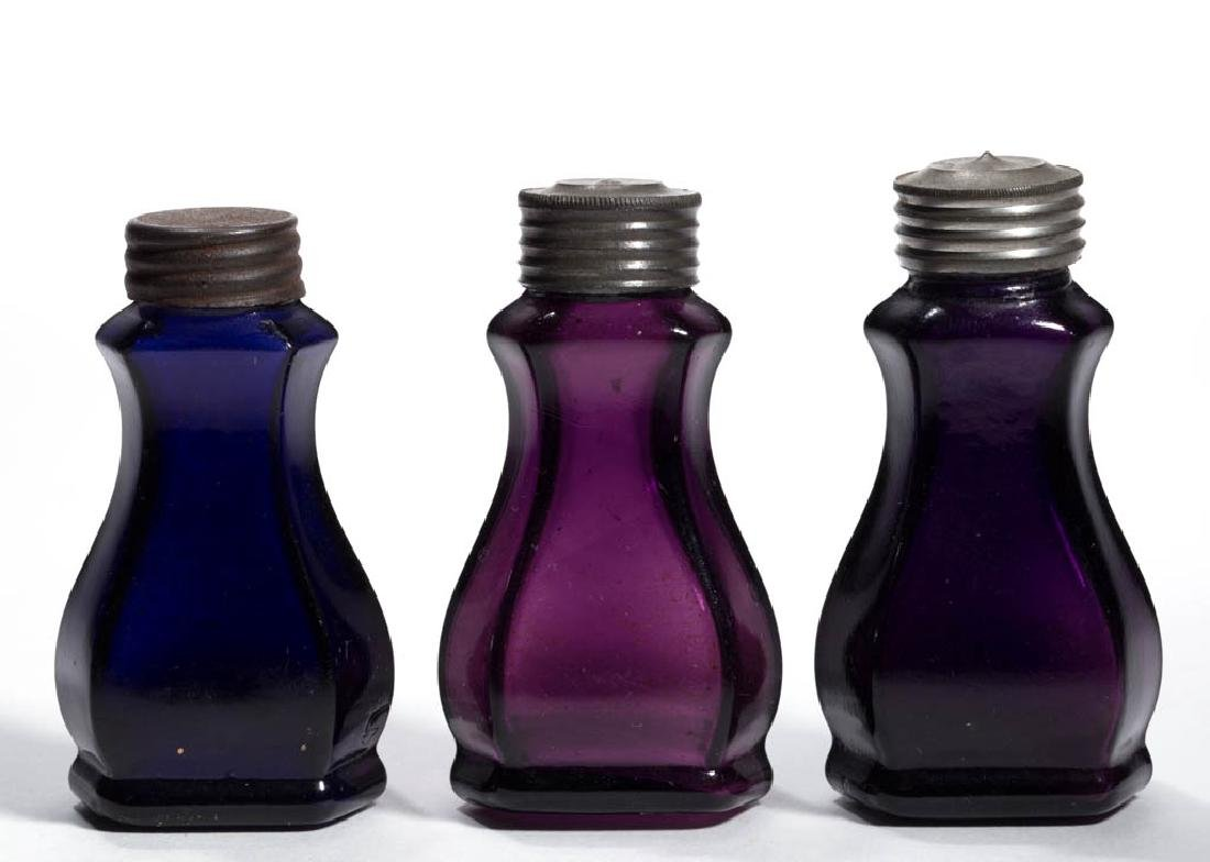 BLOWN-MOLDED COMMERCIAL PUNGENT / SCENT BOTTLES, LOT OF