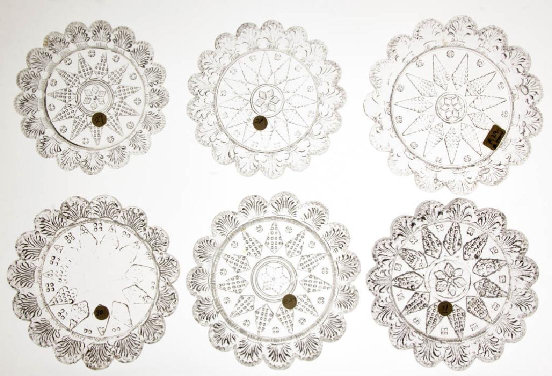 LEE/ROSE NO. 27, 28, 29, 30, 30-V-1, AND 31 CUP PLATES,