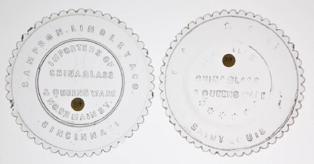 LEE/ROSE NO. 314 AND 315 CUP PLATES, LOT OF TWO