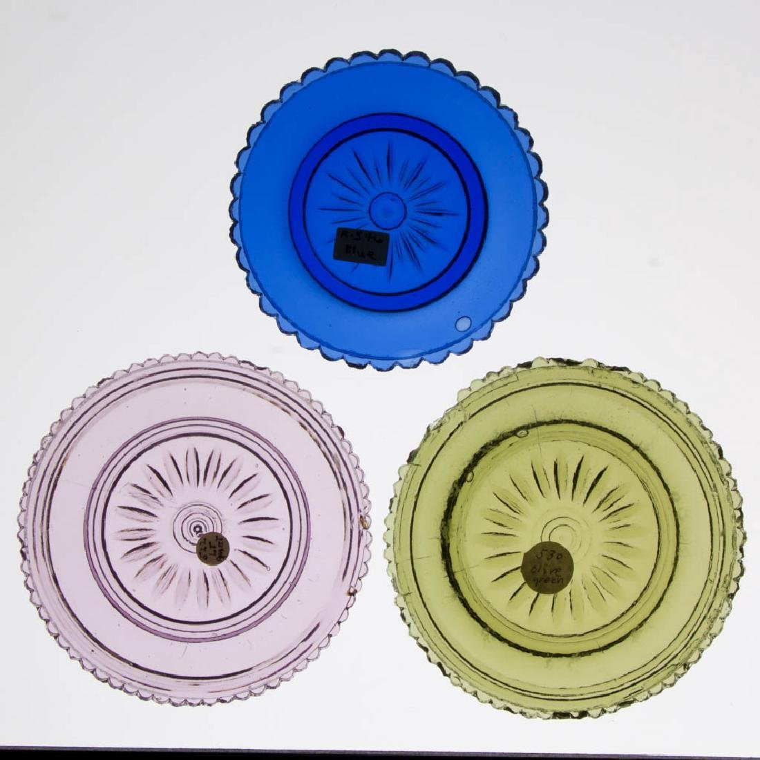 LEE/ROSE NO. 522, 530, AND 546 CUP PLATES, LOT OF THREE
