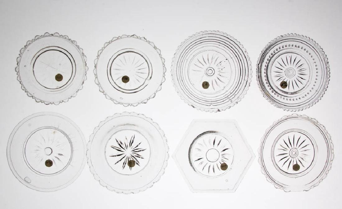 ASSORTED PRESSED GLASS CUP PLATES, LOT OF 17