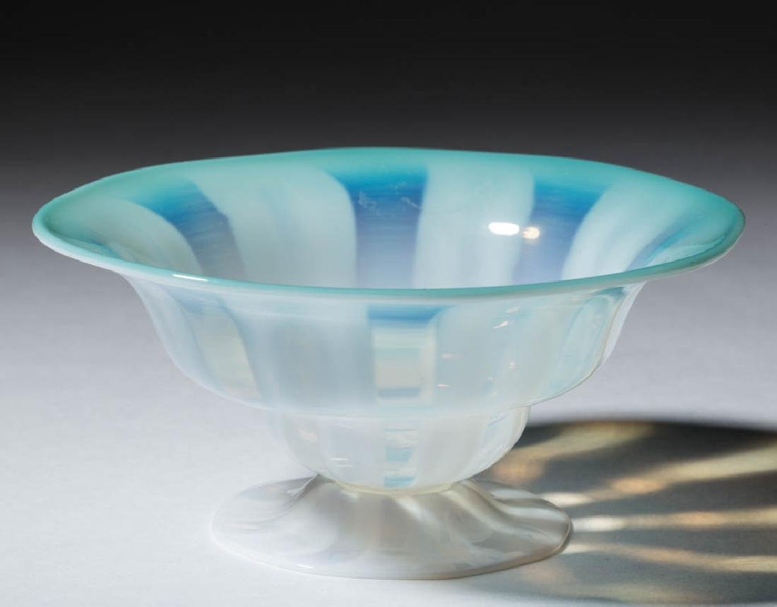 TIFFANY FAVRILE PASTEL FOOTED BOWL