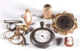 ASSORTED VICTORIAN JEWELRY AND OTHER ARTICLES,