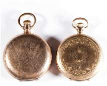 ELGIN MEN'S POCKET WATCHES, LOT OF TWO