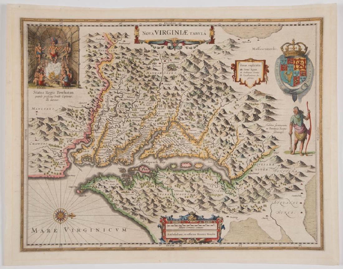 HENRICUS HONDIUS (DUTCH, 1597-1651) MAP OF VIRGINIA